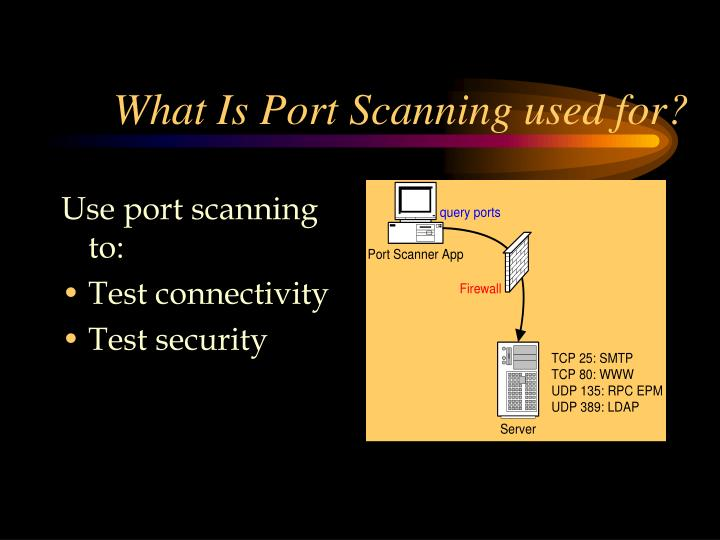 What Is Port Scanning used for?