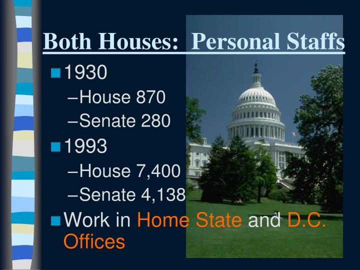 Both Houses:  Personal Staffs