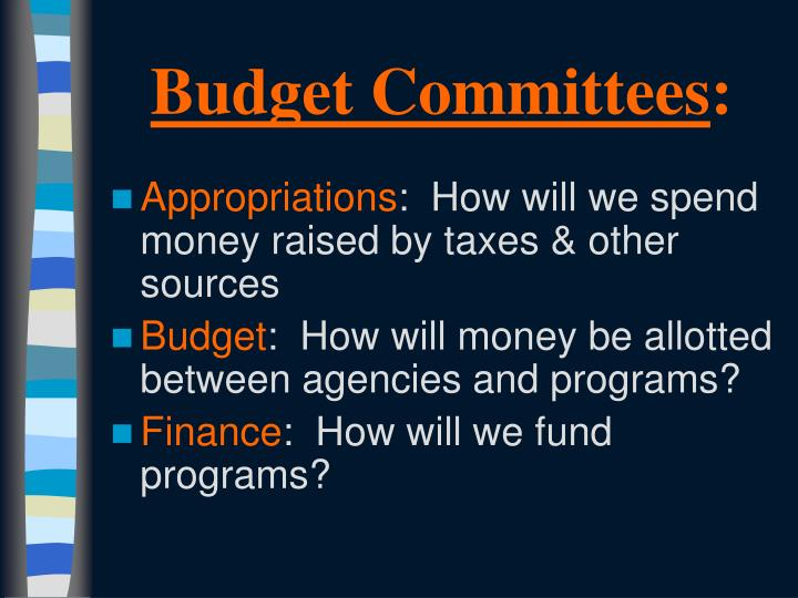 Budget Committees