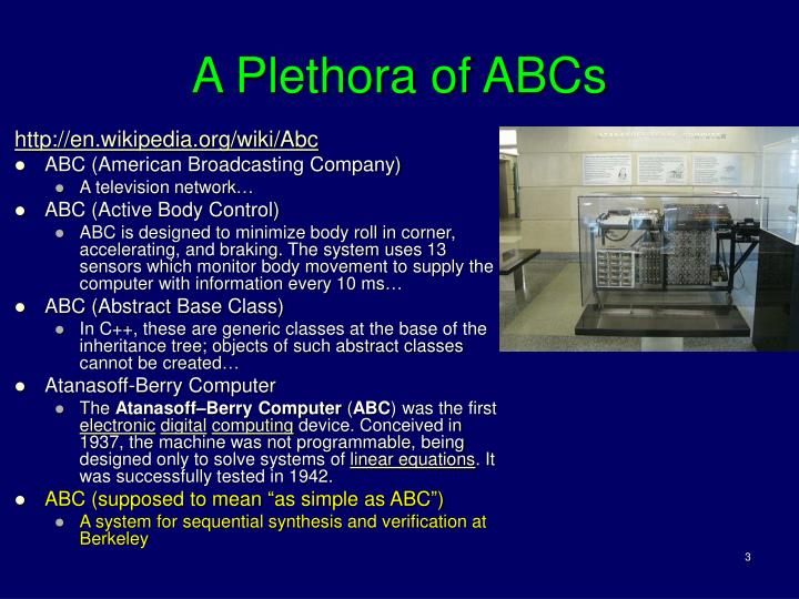 A plethora of abcs