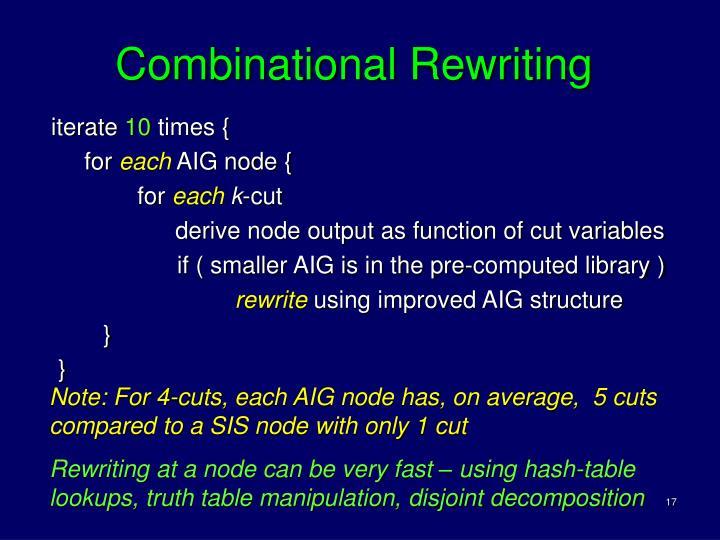 Combinational Rewriting