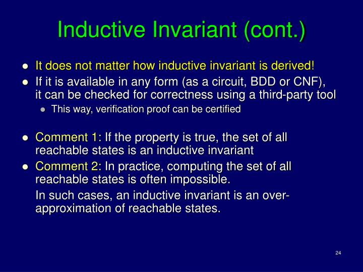Inductive Invariant (cont.)