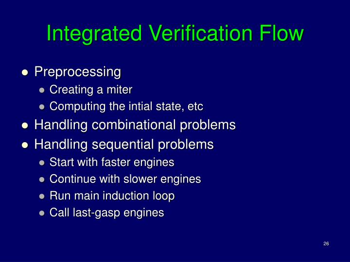 Integrated Verification Flow