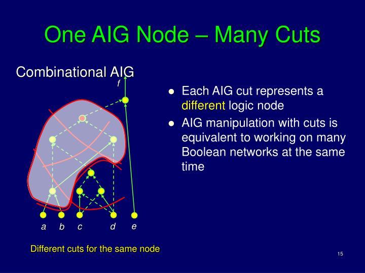 One AIG Node – Many Cuts