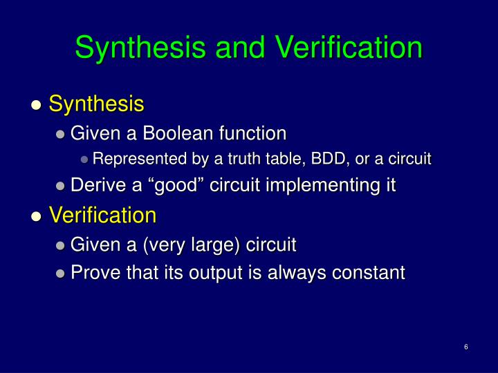 Synthesis and Verification