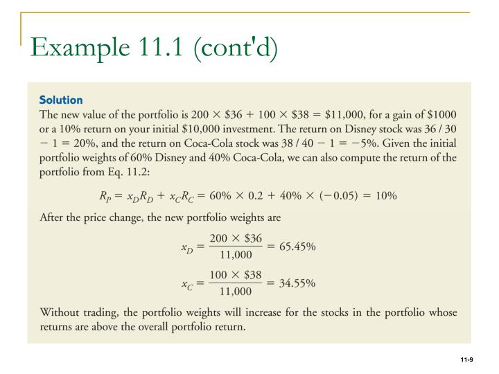 Example 11.1 (cont'd)