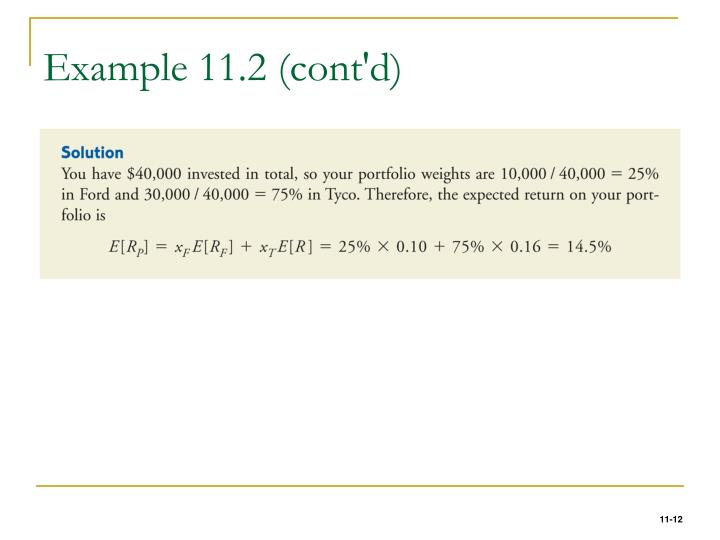 Example 11.2 (cont'd)