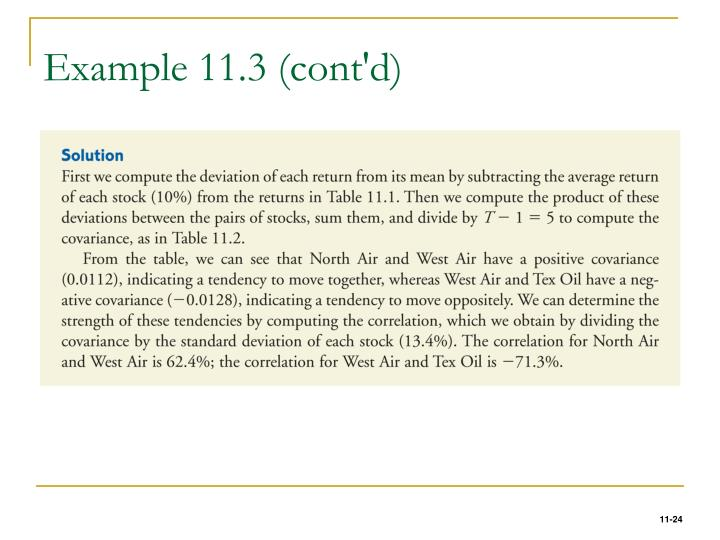 Example 11.3 (cont'd)
