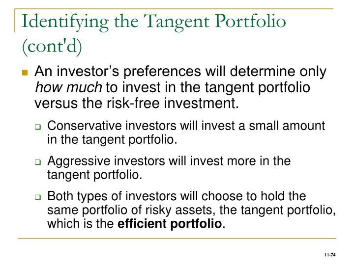Identifying the Tangent Portfolio (cont'd)