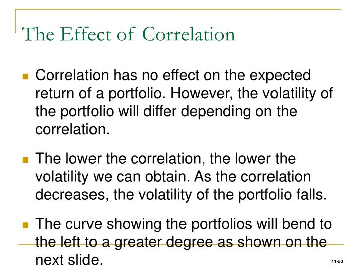 The Effect of Correlation