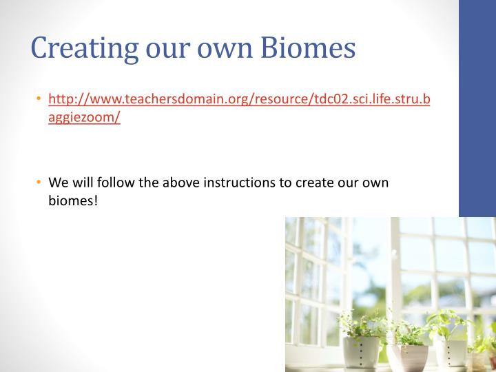 Creating our own Biomes