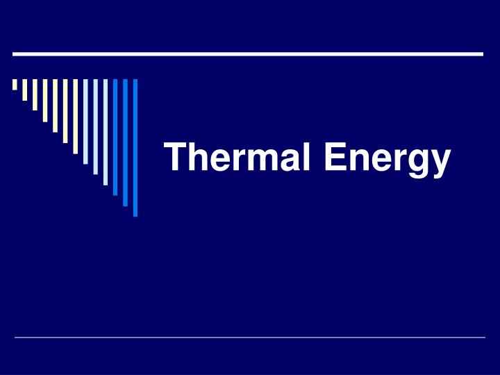 thermal energy n.