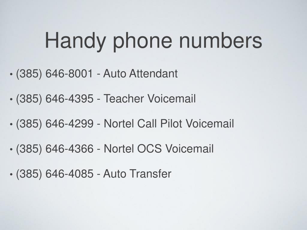 Nortel Voicemail Admin