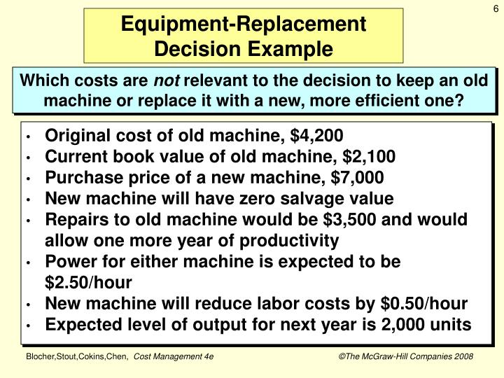 Equipment-Replacement Decision Example