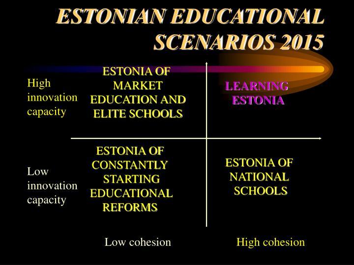 Est onian educational s c enari os 2015