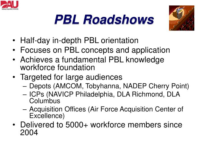 PBL Roadshows