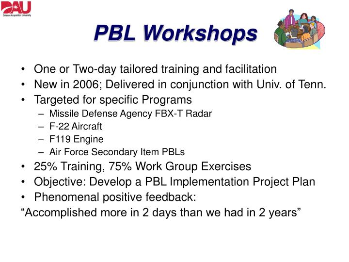 PBL Workshops
