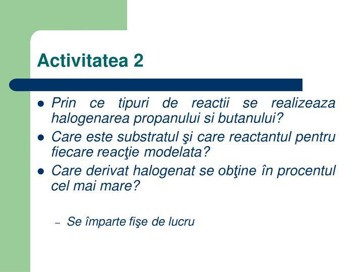 Activitatea 2