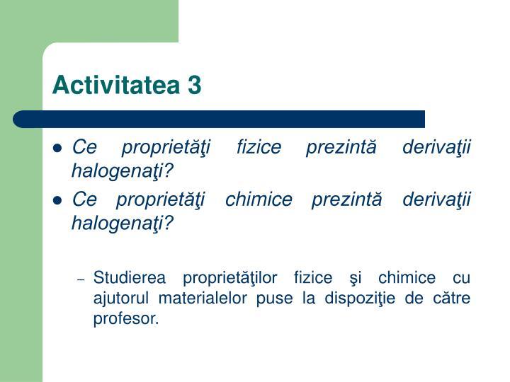 Activitatea 3