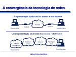 a converg ncia da tecnologia de redes