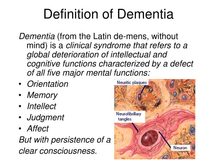 Definition of Dementia