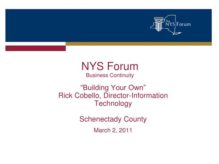 nys forum business continuity n.