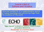towards a web of culture and science