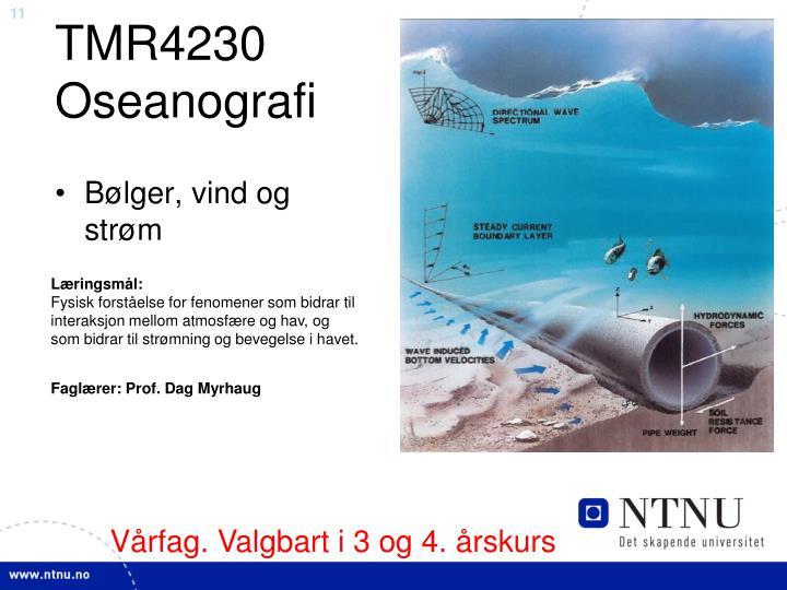TMR4230 Oseanografi