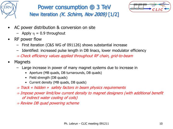 Power consumption @ 3 TeV