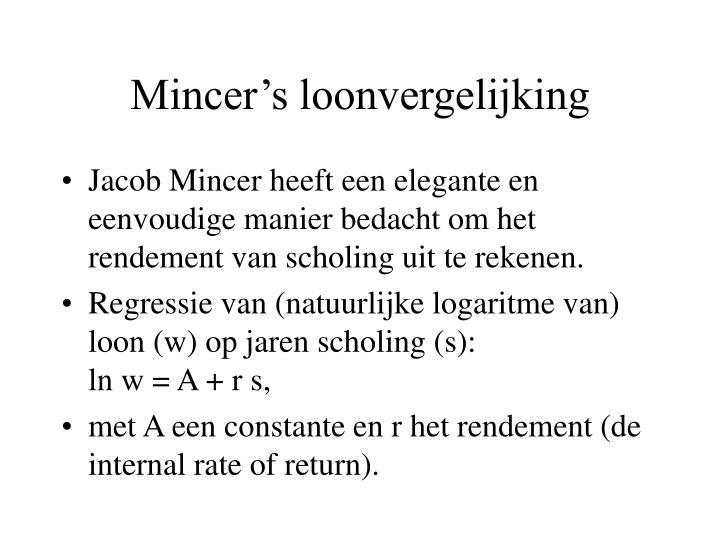 Mincer's loonvergelijking