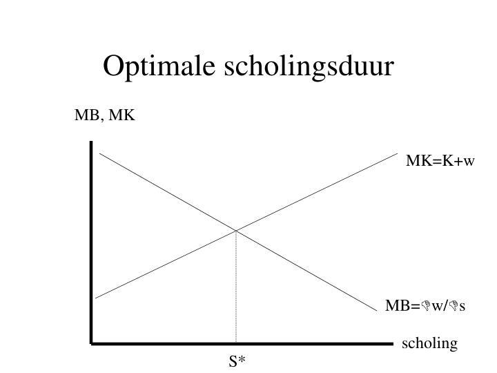 Optimale scholingsduur