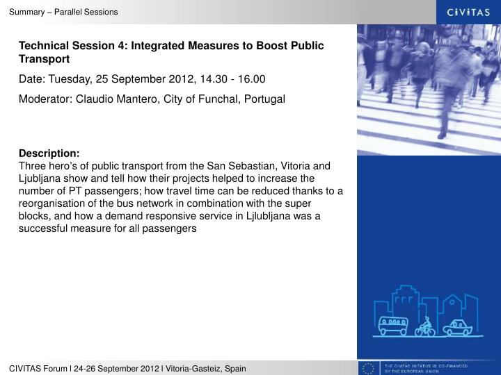 Technical Session 4: Integrated Measures to Boost Public Transport
