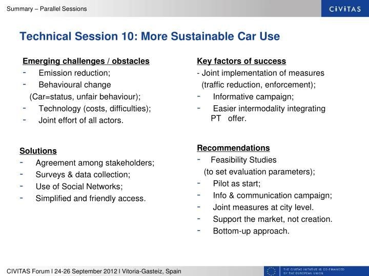 Technical Session 10: