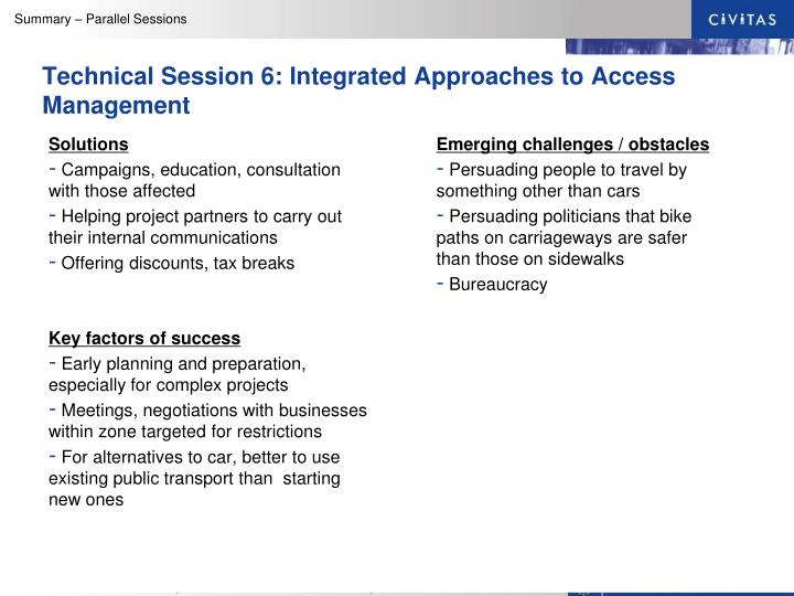 Technical Session 6: