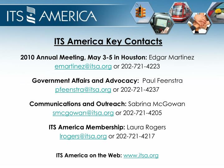 ITS America Key Contacts