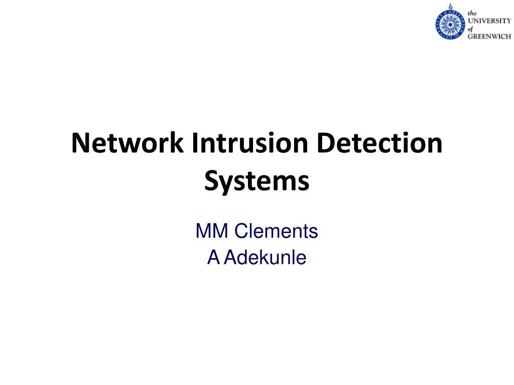 PPT - Network Intrusion Detection Systems PowerPoint Presentation