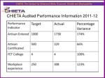chieta audited performance information 2011 121