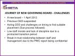journey of new governing board challenges