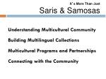 it s more than just saris samosas