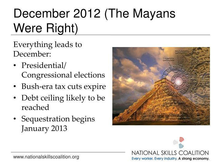 December 2012 (The Mayans Were Right)