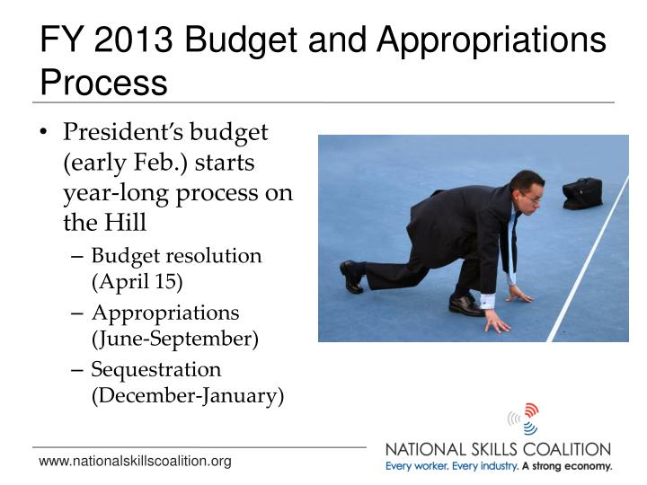 FY 2013 Budget and Appropriations Process