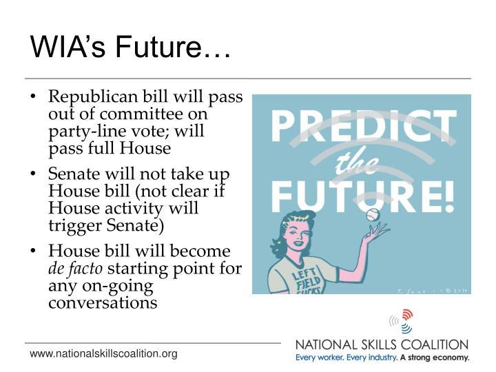 WIA's Future…