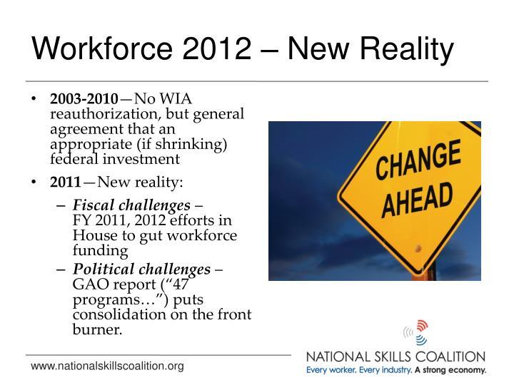 Workforce 2012 – New Reality