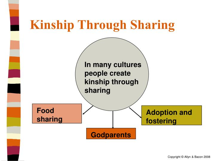 In many cultures people create kinship through sharing