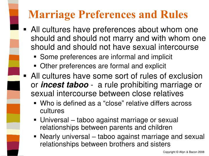 Marriage Preferences and Rules