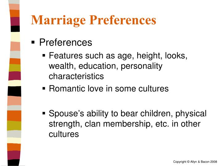 Marriage Preferences