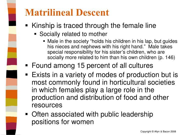 Matrilineal Descent