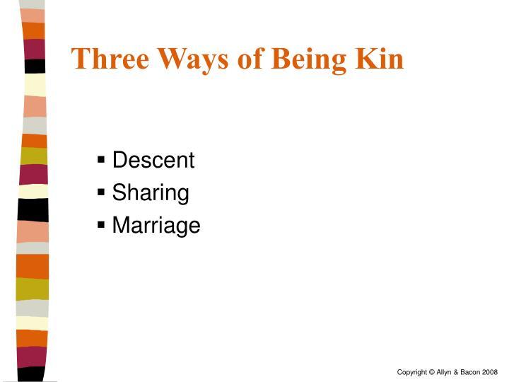Three Ways of Being Kin