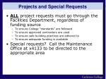 projects and special requests