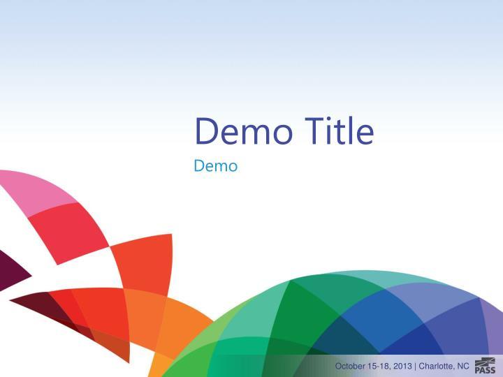 Demo Title